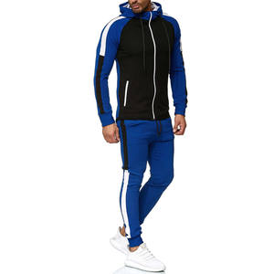 Men's Training Gym Sportswear Two Pieces Tracksuit Hoodie & Pants Sweat Suit