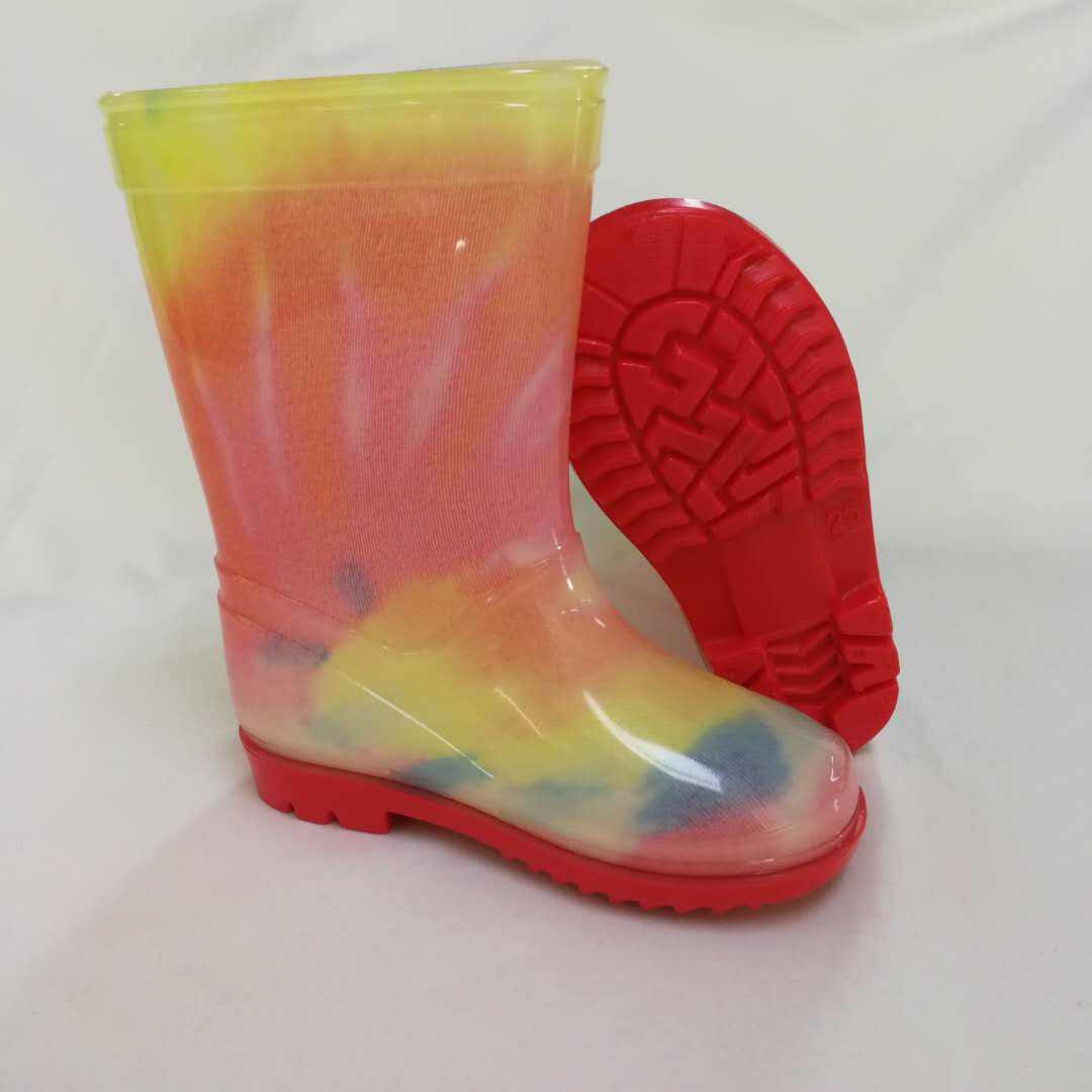 Wholesale childrens rubber waterproof rain boots for kids