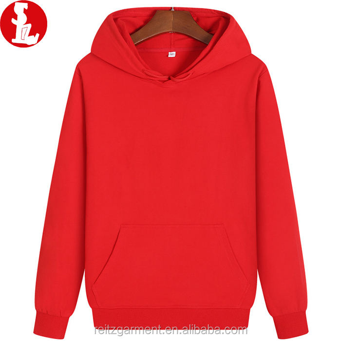Wholesale 100% cotton manufacturer cheap unisex kangaroo pockets blank men's hoodies