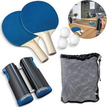 Hot Sale Portable Retractable Tabletop Table Tennis Racket Ball Table Net Ping Pong Set
