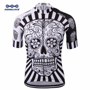 Custom Cycling Wear,Skull Road Bike Jerseys,Drop Ship White Sublimation Bicycle Shirt Craft Cycling Jersey Clothing