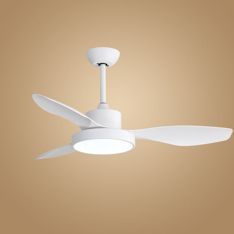 Popular Electric Energy Saving Decorative Residential 47inch ABS Blade Low Watt No Noise Ceiling Fan With 24W LED Light