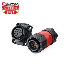 CNLINKO M20 Cable Socket Male Female Waterproof 12 Pin Circular wire Connector