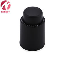 Black ABS Sealed Storage custom wine Bottle Stopper vacuum