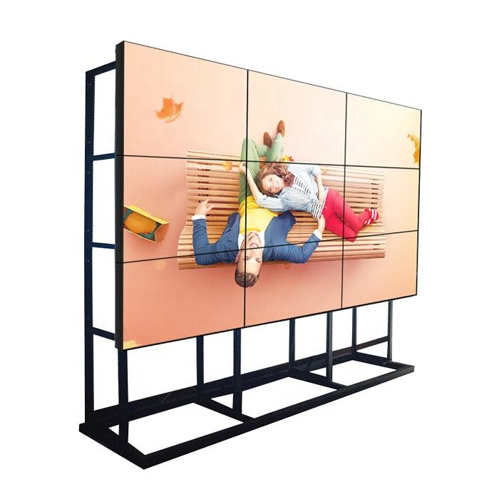 4K Daisy Chain 2X2 55 Inch Vloerstaande 3.5Mm Bezel Cctv Systeem Scherm Lcd Video Wall-Display