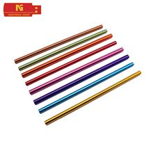Reusable Aluminum Drinking Straws Colorful Metal Smoothies Straws Wide Rainbow Colorful Straws for Kitchen Party
