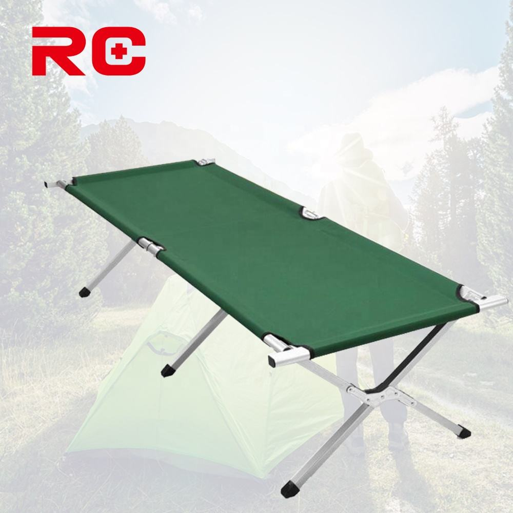 Comfortable Aluminum Portable Camping Foldable Bunk Bed For Outdoor Travel