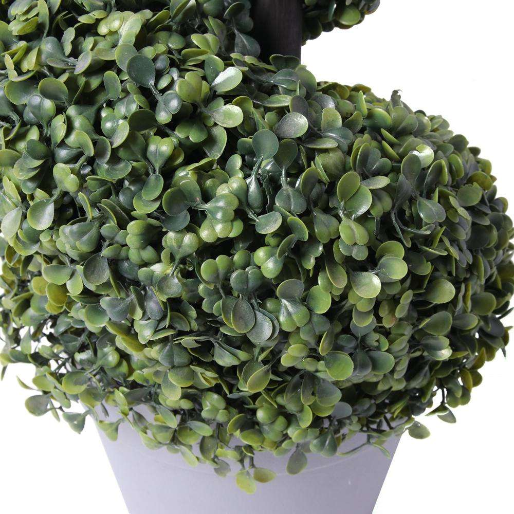Hot Sale Large Artificial Boxwood Spiral Topiary Tree Faux Bonsai Plants for Outdoor Decoration