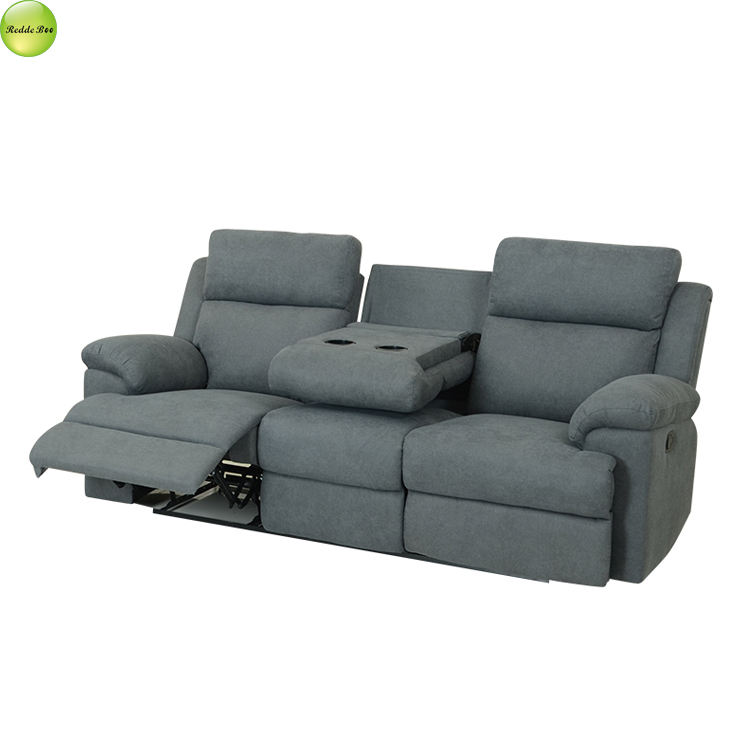 Inflatable Relax Sofa Chair Theater Fabric Recliner Sofa With Cup Holder Home Furniture