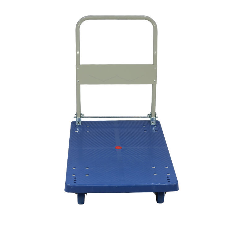 Industrial plastic storage trolley cart hand pull cart