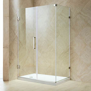 2020 Free standing modern Clear 10mm Tempered Glass shower door