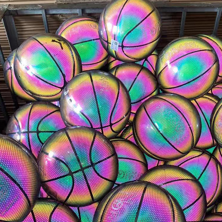 Trendy reflective basketball for outdoor