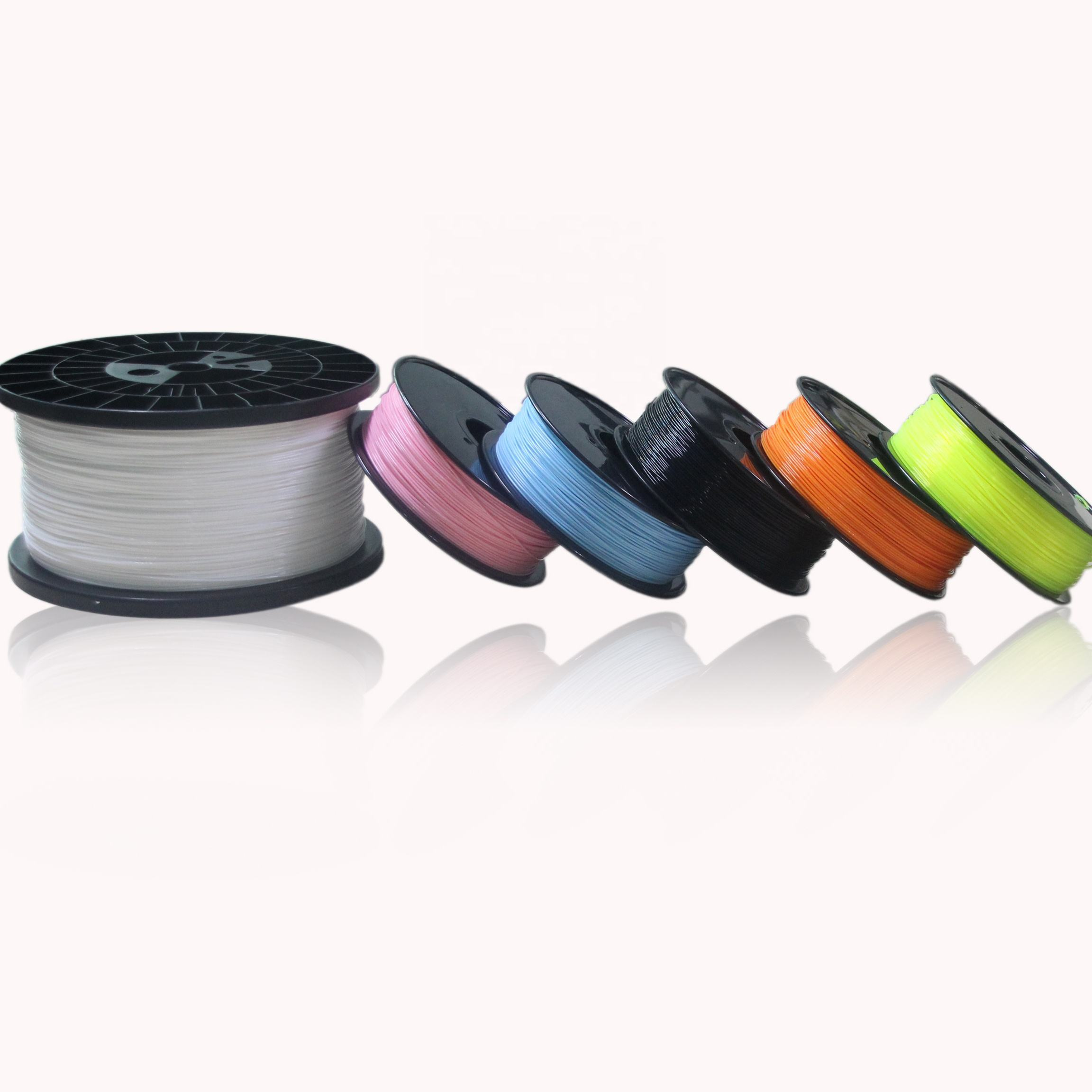 Excellent 3D printer filament 50 types 45 colors 1.75mm 2.85mm 3mm abs pla 3d printing filament free sample