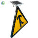 Affordable wholesale durable solar power outdoor illuminated signage street signs with good warning effect