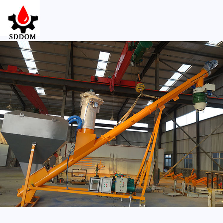powder conveying equipment screw augers conveyor with hopper