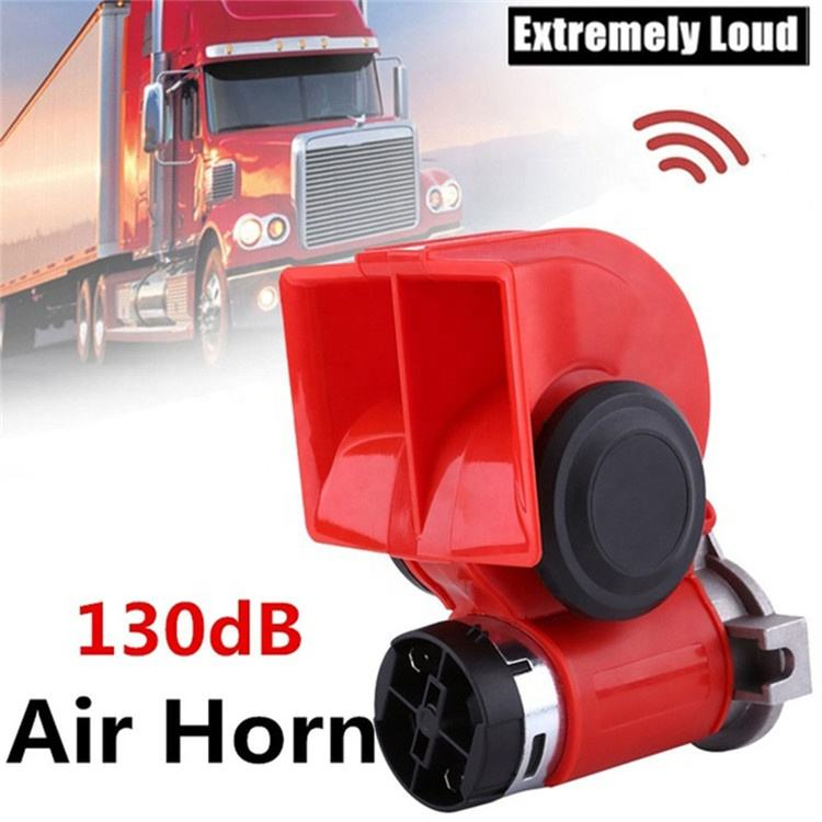 Wholesale Custom 12 Volt 130dB Dual Tone Trumpet Loud Electric Air Horn Snail Electric Siren Car Horns For Car Motorcycle