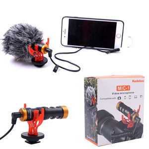 Factory price stocklot light weight mini recording camera microphone for smartphone