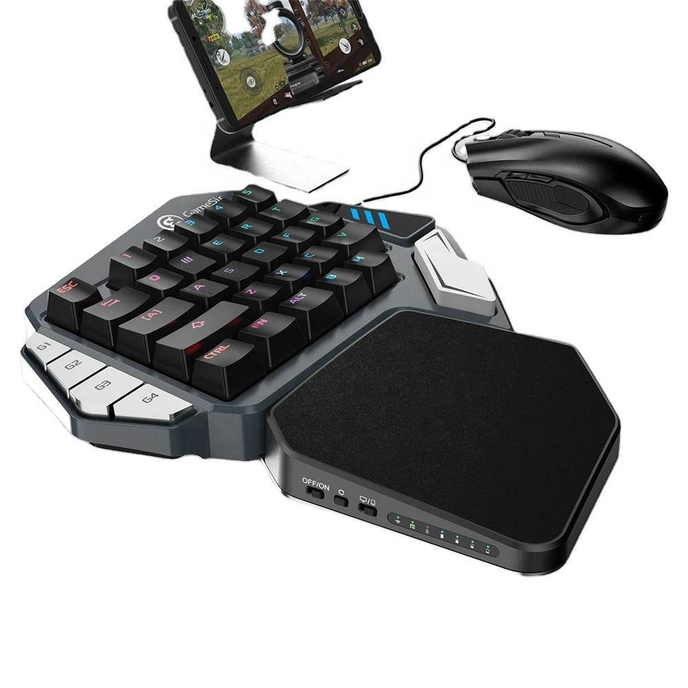 [Without Mouse] Z1 Keyboard Game Wireless Keypad DPI Mouse Combo One-handed GameSir z1 Keyboard Keypad for pUBg FPS Games