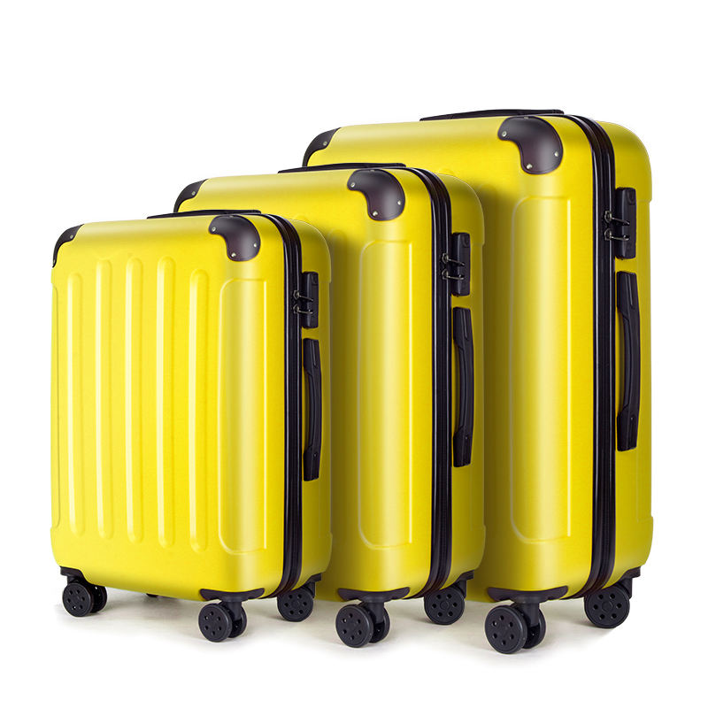 Newcome good design 3PCS ABS trolley handle suitcase for your business trip