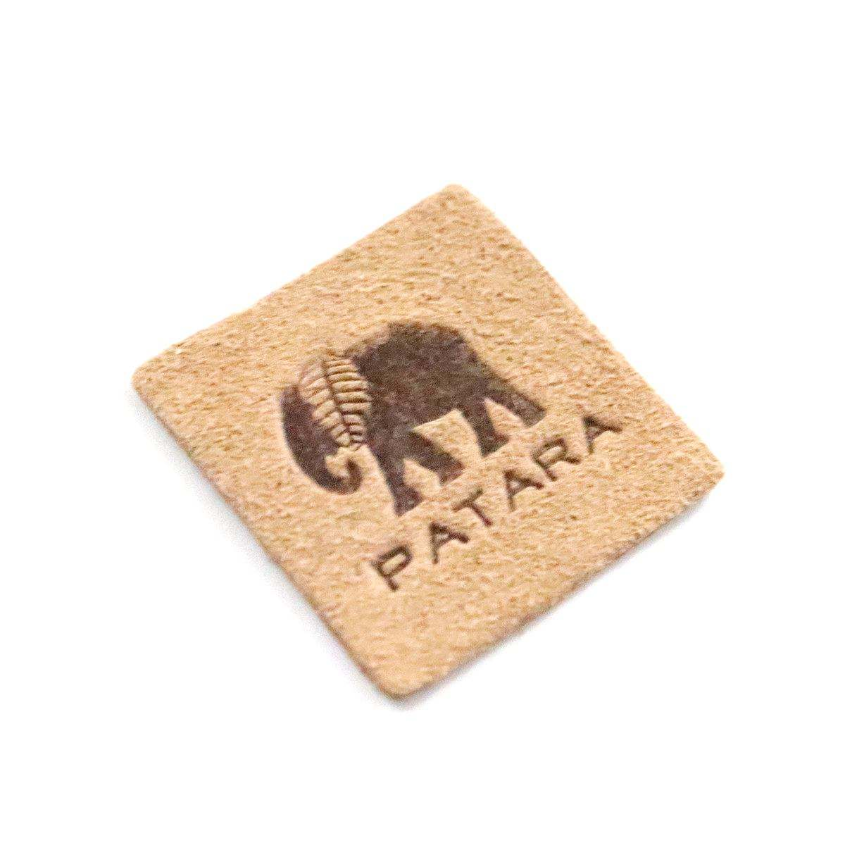 Custom Embossed Leather Patch & Jeans Leather Label And Tags For Clothing