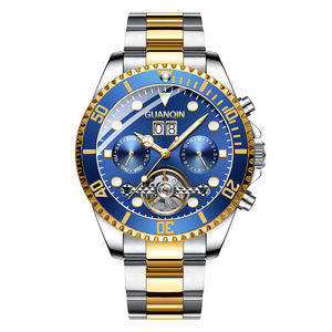 GuanQin promotional mens automatic mechanical watches men wrist luxury wristwatch