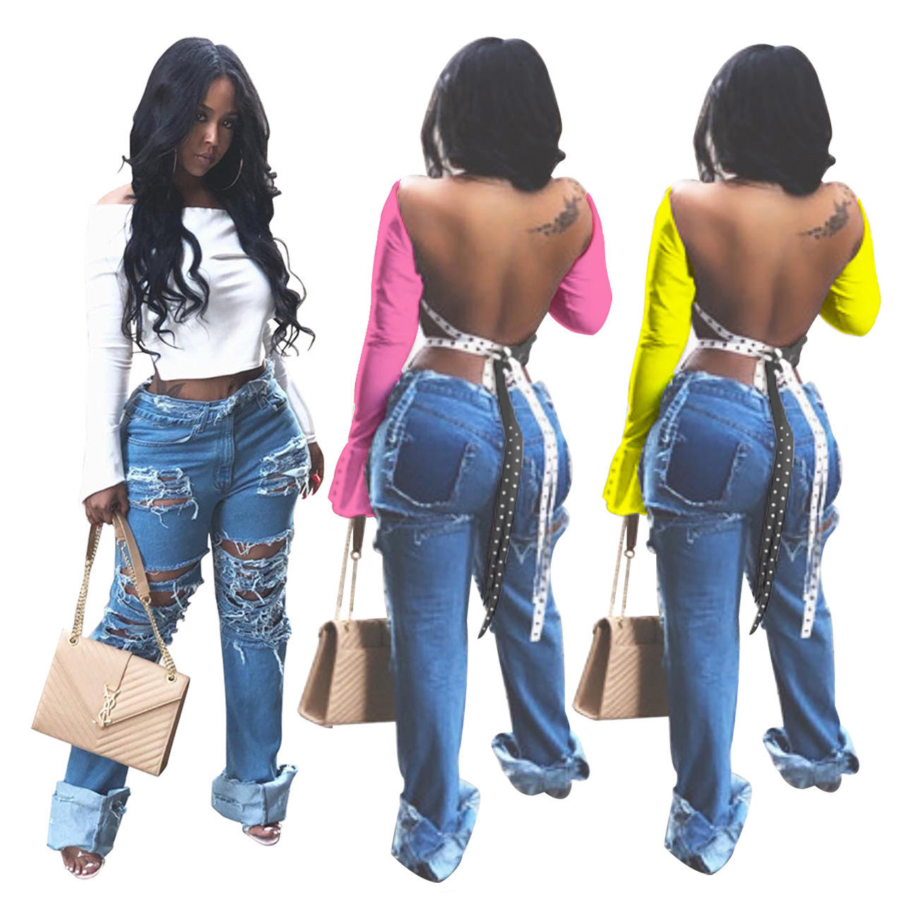 New Arrival Fashion Streetwear Cardigan Women's Tank Top Sexy Trendy Women Clothing Crop Top Backless Ladies' Blouses