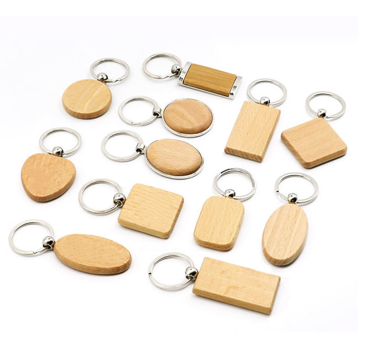 2020 Custom Blank Wood Carving Name Keychain, Wooden Handicrafts Blank Wooden Keyring Key Chain With Name