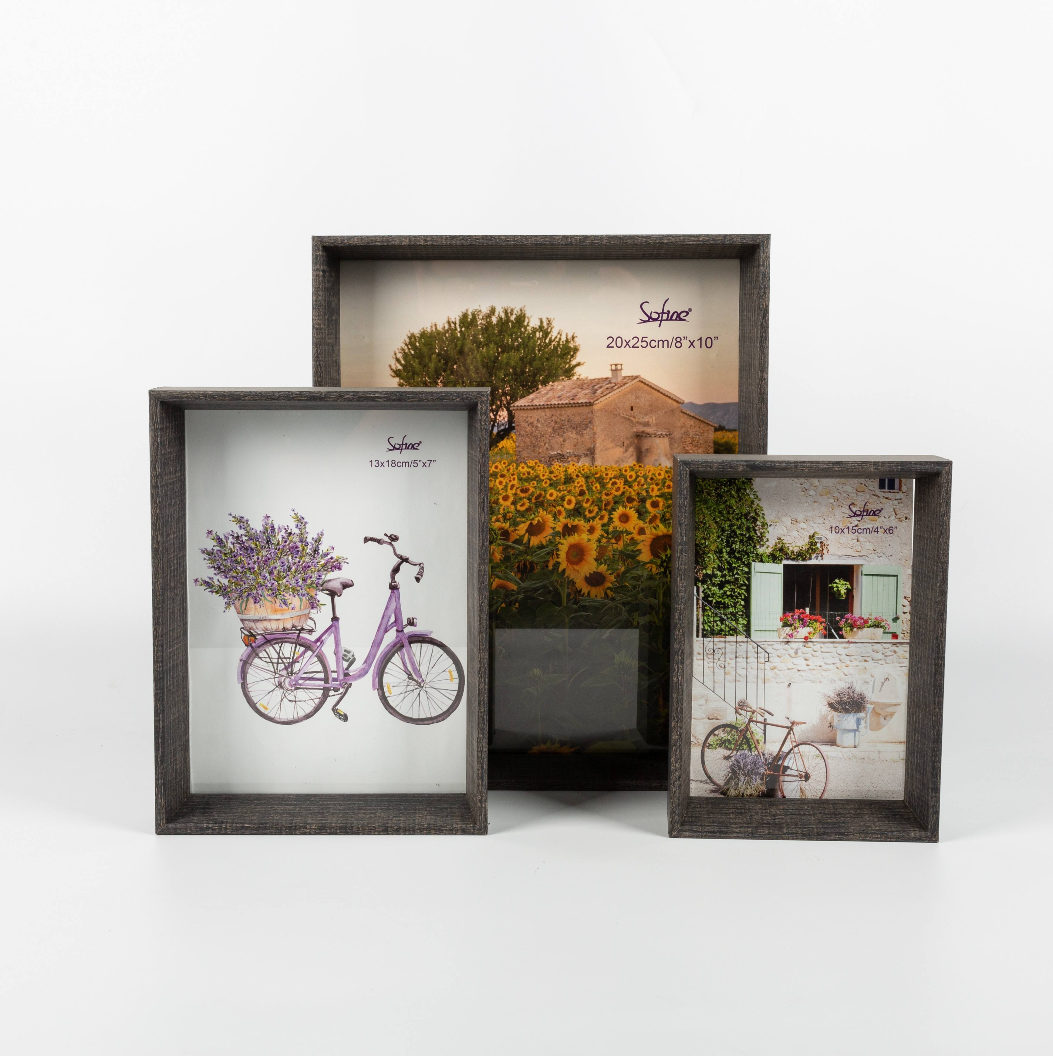 Sofine MDF multiple size picture frames 3d frames moulding Horizontal and vertical placed