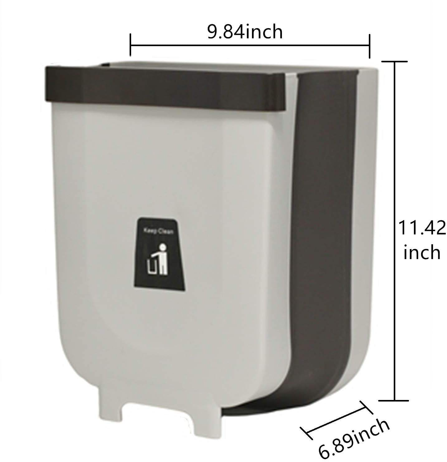 Acrylic Small Hanging Kitchen Trash Can 10L Hanging Garbage Can