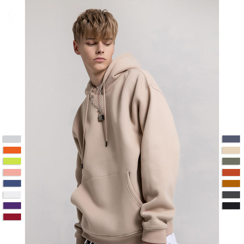 Fashion Pullover Blank French Terry Cotton Hoodie Men