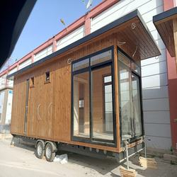 Tiny Houses on Wheels Wooden Caravan For Sale