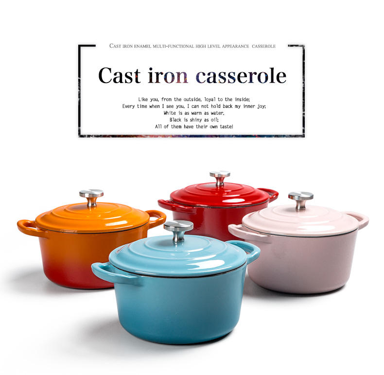 Neue Produkte Schöne Farbe Emaille Gusseisen <span class=keywords><strong>Mini</strong></span> Kochen Topf Kasserolle Cocotte