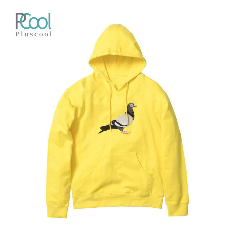 Latest design big pigeon custom embroidered plain hoodies sweatshirts