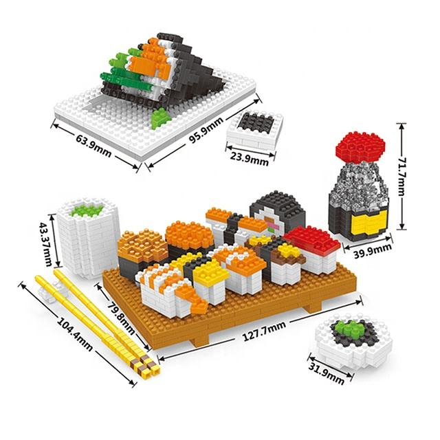 2020 new building block toys Assorted food set nano block for wholesale for kids educational toys