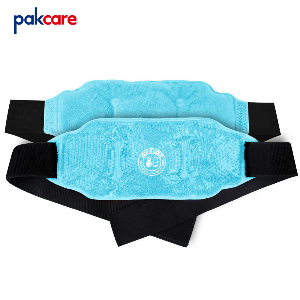 One-Stop Service Customized Custom Colourful Gel Beads Hot Cold Therapy Body Therapeutic Lower Back Wrap