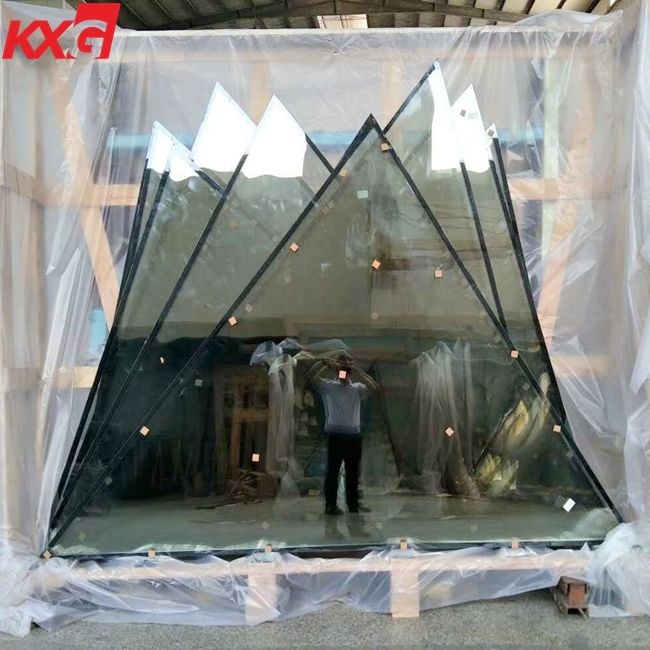 Special design triangle shape structural soundproof shatter resistant insulated glass facades