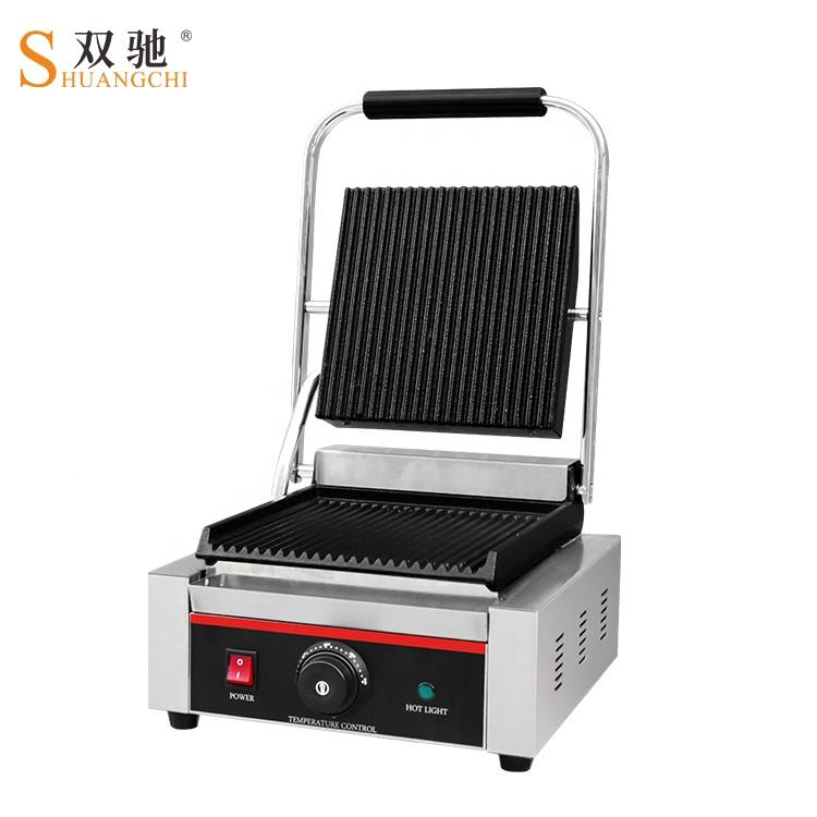 Hotel Equipment Commercial Contact Grill sandwich griller with CE certificate panini griller griddle