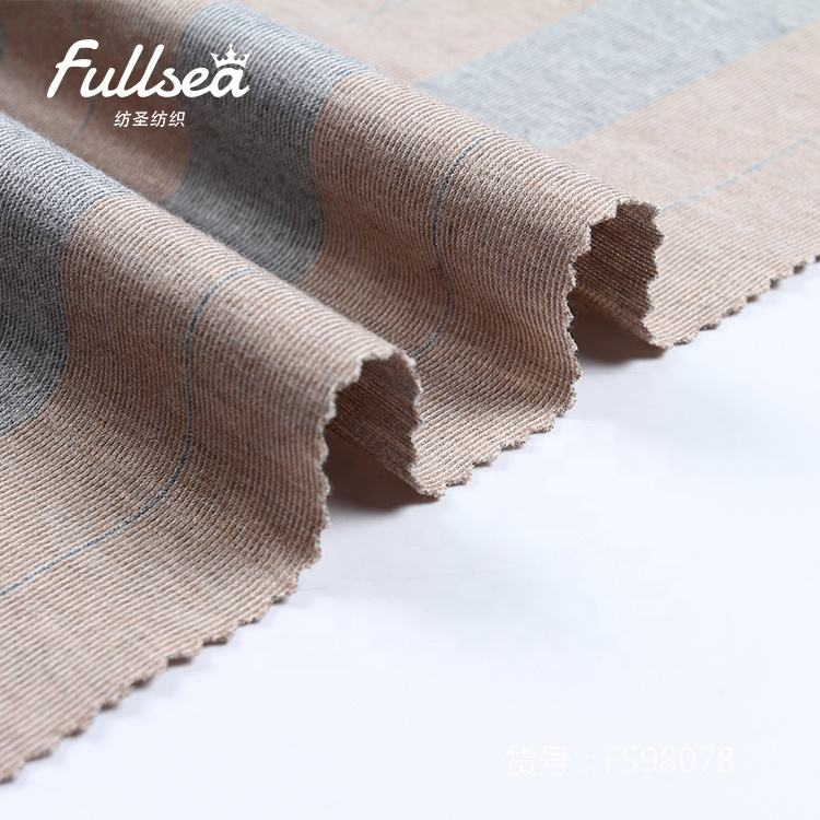 Fashion blended polyester and rayon garment dust-coat fiber-dyed fabric