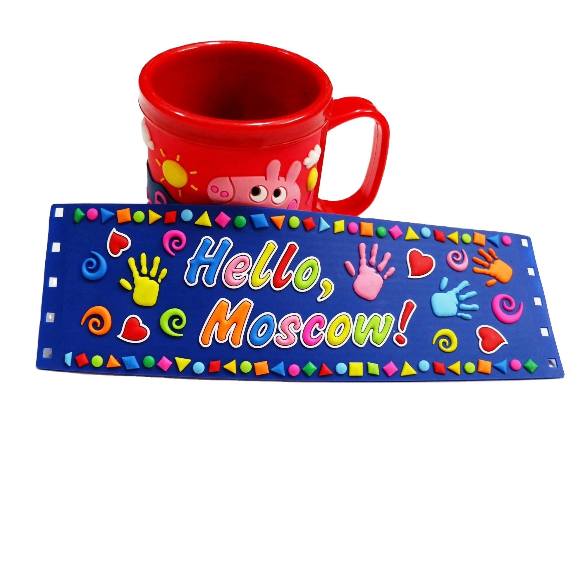 Customized cartoon pvc mug sets Children's wash cups Custom mug logo