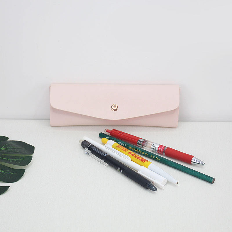 Customised Own Logo Green Leather Pen Pouch Pencil Case For Teens
