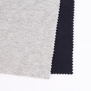 Black jersey single jersey knitted spandex cotton pique fabric for t shirt