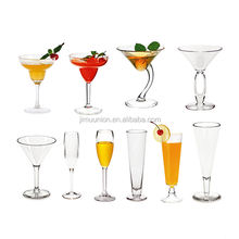 Wholesale Dishwasher Safe Unbreakable Polycarbonate Plastic Margarita Martini Wine Bar Dining Glass Cups