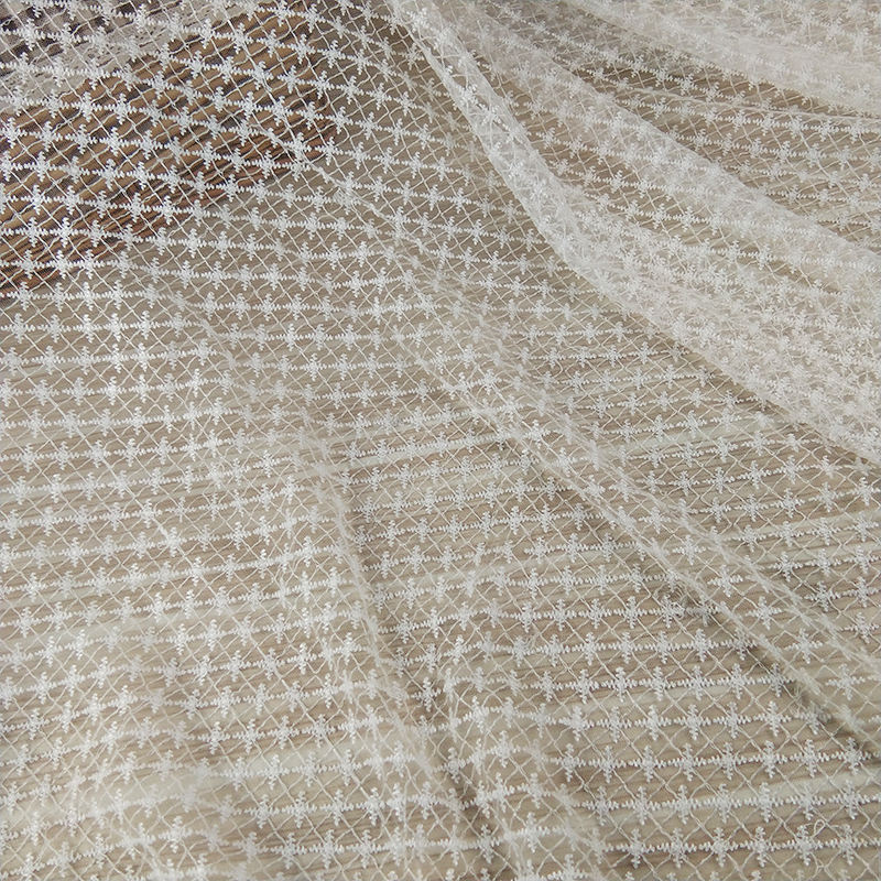 2019 new fashion embroidery tulle lace fabric