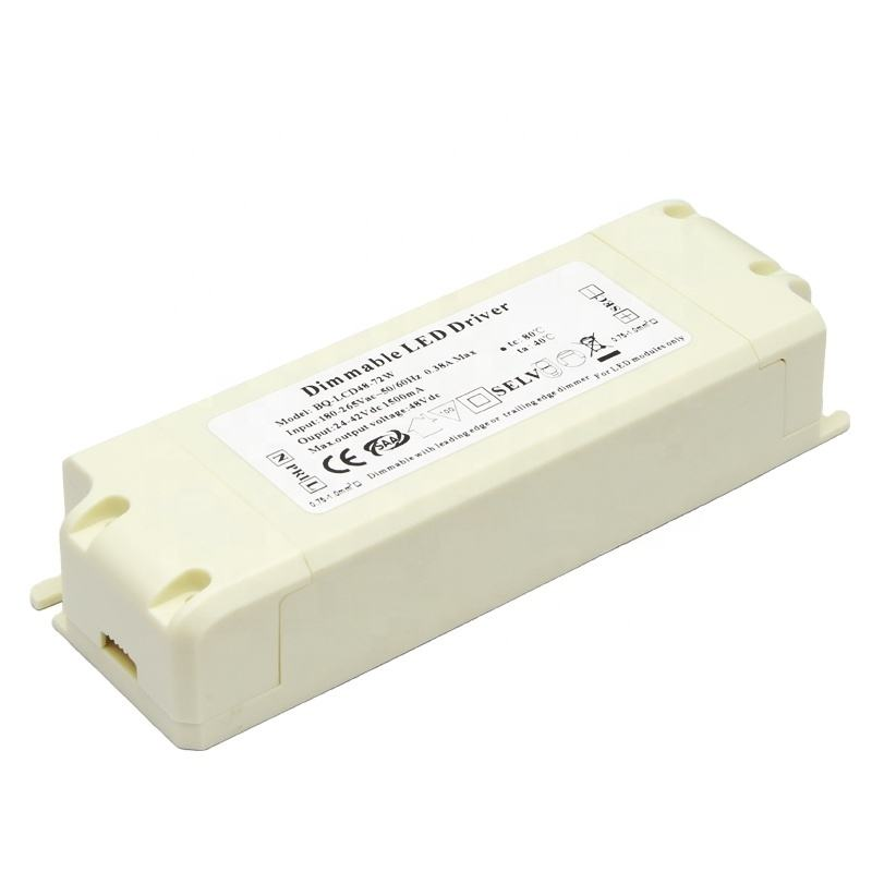 boqi triac led driver 36v 1500ma 60w dimmable type with CE SAA