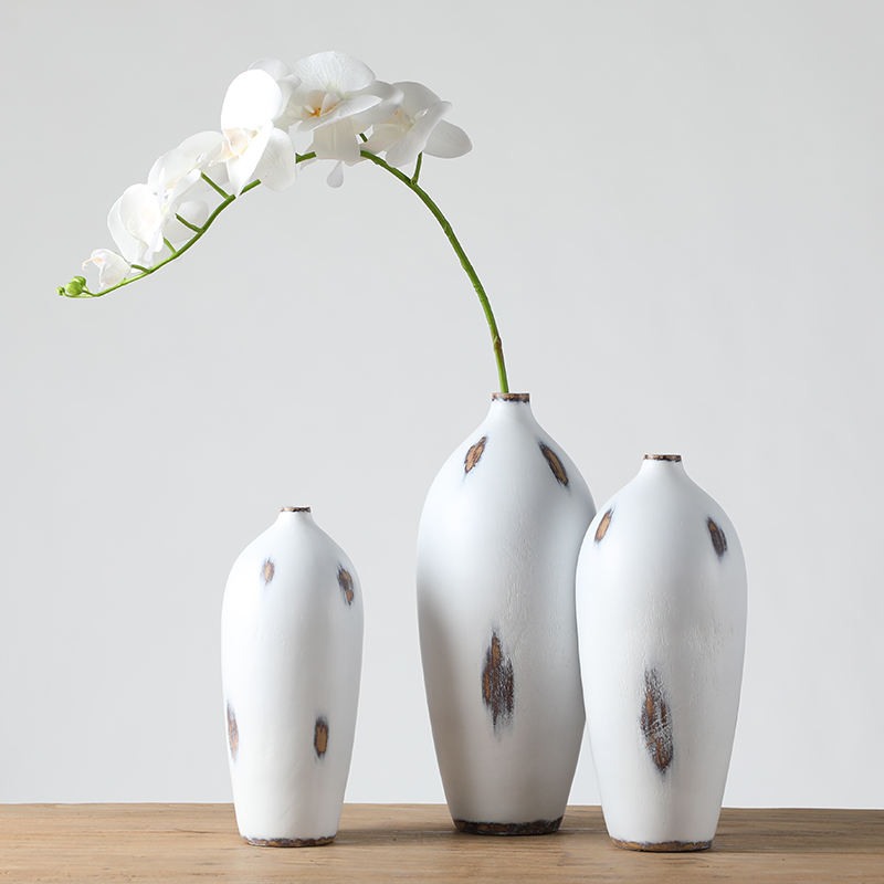 wholesale high end modern decorative white vase for Wedding