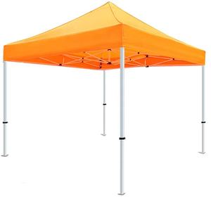 10x10ft Awnings Orange Steel Frame Garden Gazebos Outdoor Leisure PVC Pergola Canopy Tents