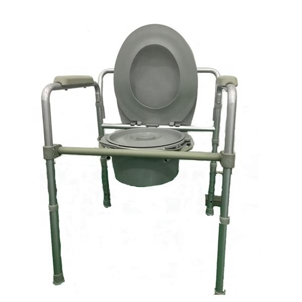 JM0501 Steel bedside Folding Commode Chair Set Toilet Chair With bedpan For Elderly