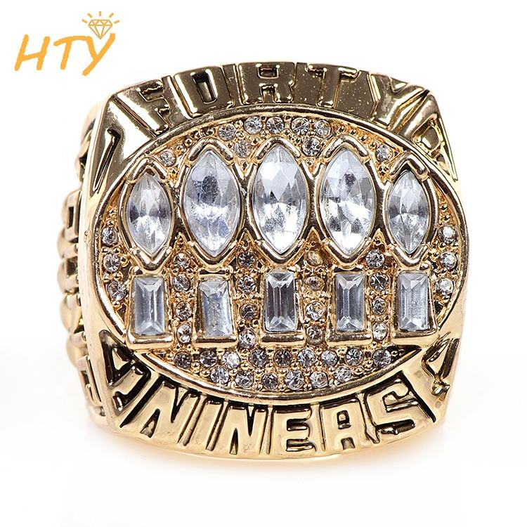 Gold-plated Alloy San Francisco 49ers football championship rings and sports rings for men