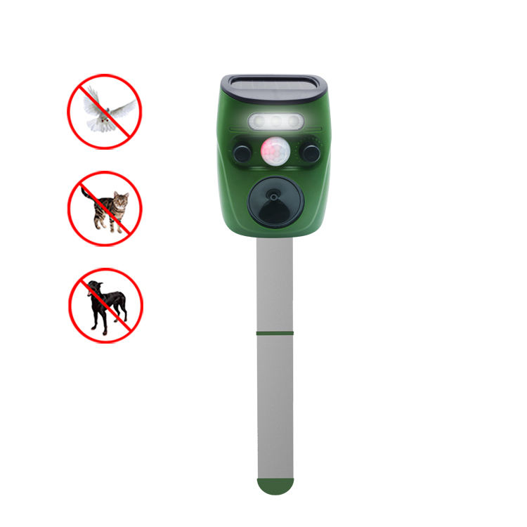 Sensor de PIR Ultra-sônica Repeller Animal Do Pássaro Do Jardim Movido A Energia Solar