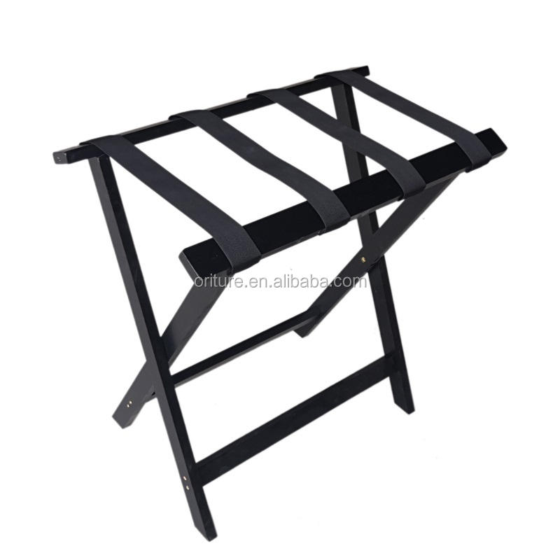 Luggage Rack Hotel H013 Hospitality Supply Bedroom Solid Modern Wood Folding Suitcase Rack Wooden Luggage Rack Stand For Hotels
